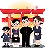 イラスト 入学・卒業奉告祈願2