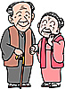 イラスト 老夫婦